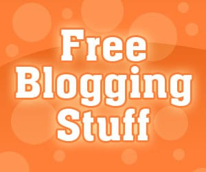 free blogging stuff button
